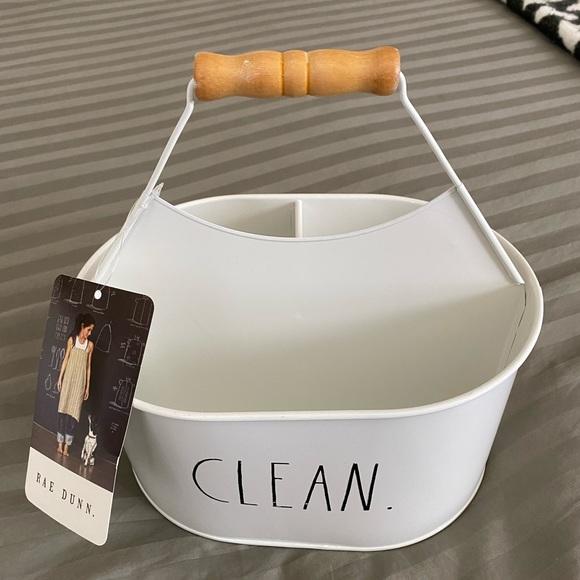 """RAE DUNN.   NWT Cleaning Caddy """"Clean"""""""